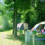 Idyllische Plätzchen für Zelte